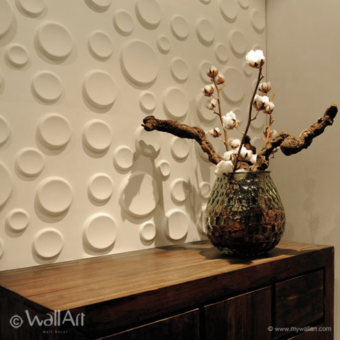Craters 3D wallart falpanel