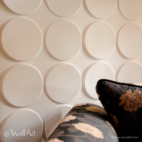 Ellipses 3D wallart falpanel