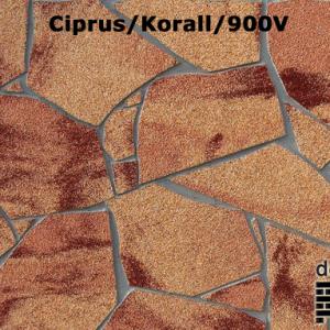 delap Ciprus/korall/900v terméskő struktúra