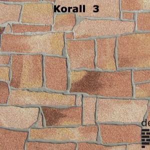 Delap korall 3 hasított kő struktúra