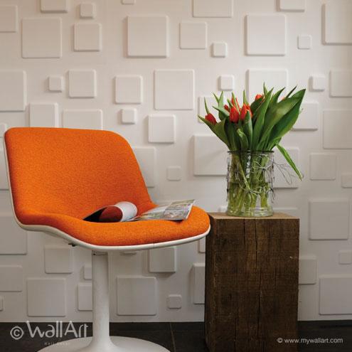 Squares WallArt 3D falpanel